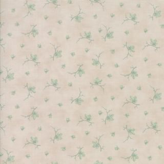 Moda Quill by 3 Sisters - 5618 - Butterflies Floral, Mint on Cream - 44157 21 - Cotton Fabric